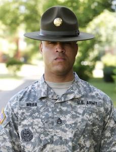 Staff Sergeant Sergio Mesa, Bravo Company drill sergeant.